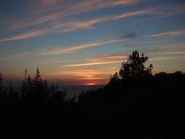 Solnedgang midsommer